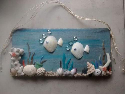 Поделка аквариум из ракушек для детей