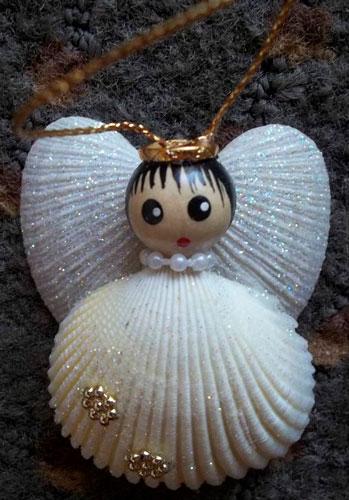 поделка ангел из ракушек