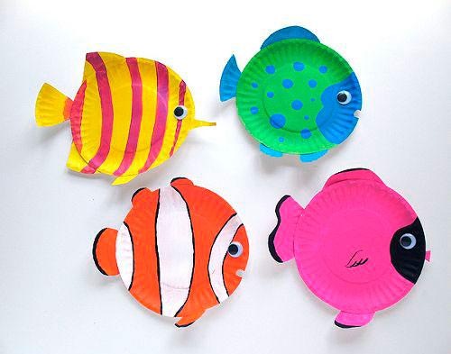 Поделки на морскую тему из тарелок для детей и взрослых 2