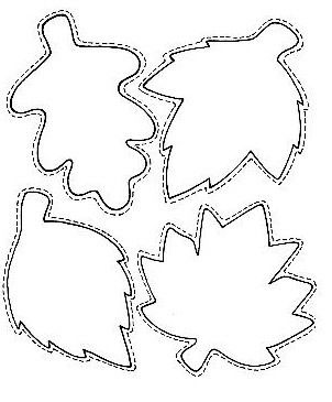Шаблоны листьев для вырезания из бумаги для детей 9-10 лет