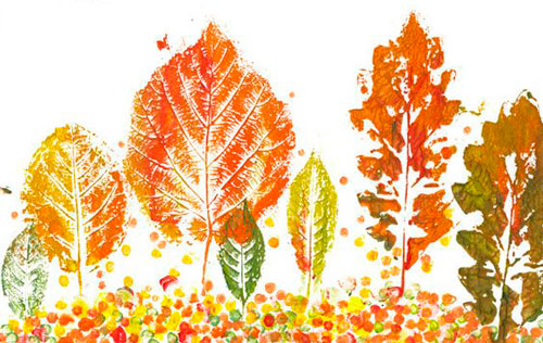 осень - красивая аппликация для детей 2