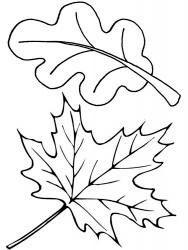 шаблоны листьев для вырезания из бумаги