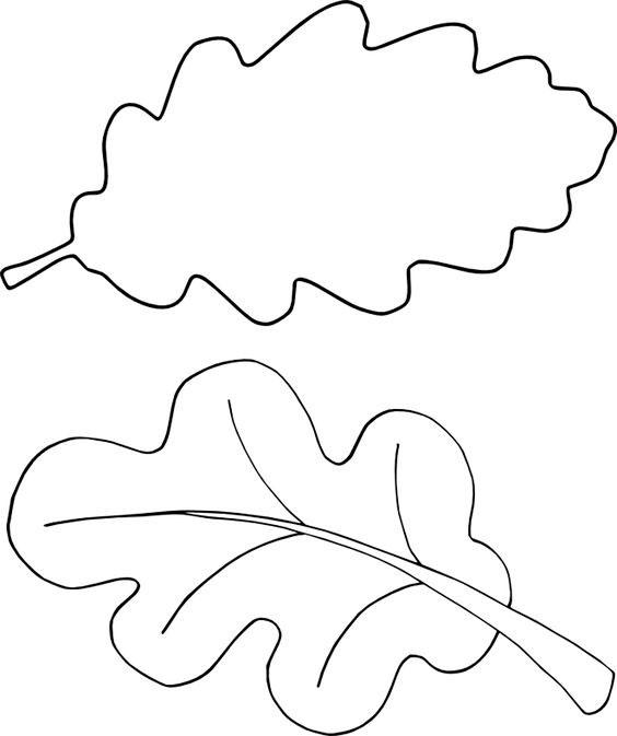 Шаблоны листьев для вырезания из бумаги для детей 6-7 лет