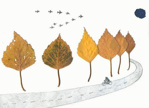 осень - красивая аппликация для детей дошкольного возраста 3