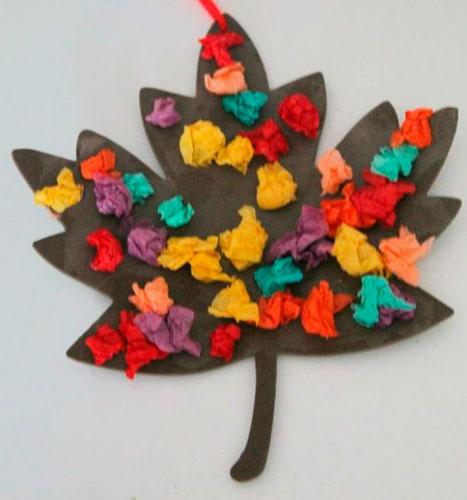 осень - красивая аппликация для детей дошкольного возраста