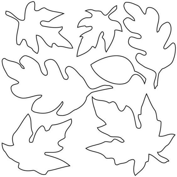 осенние листья для вырезания из бумаги