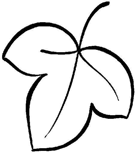Шаблоны листьев для вырезания из бумаги для детей 3-4 лет