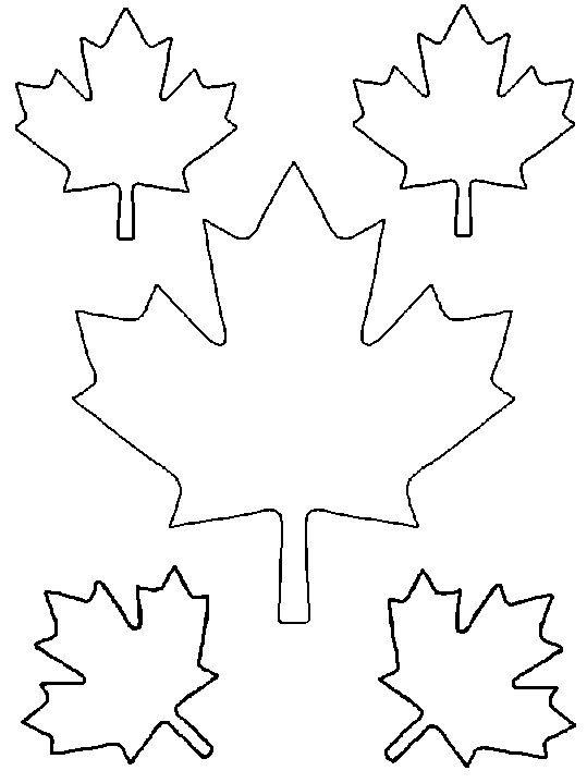 шаблоны кленовых листьев для вырезания из бумаги