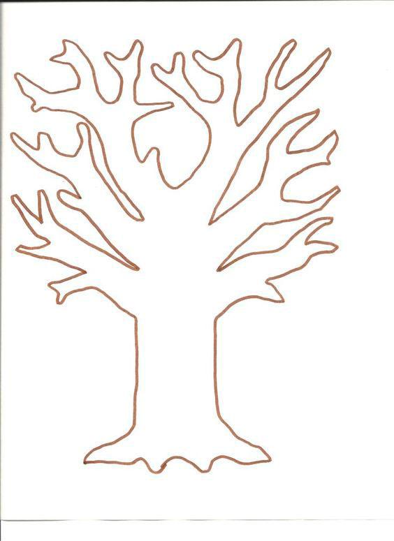 дерево для вырезания из бумаги