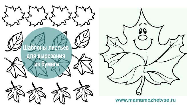 Шаблоны листьев для вырезания из бумаги 3