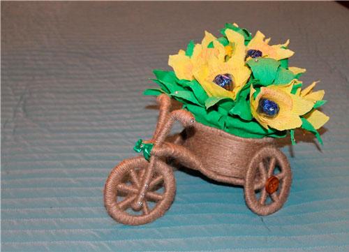 велосипед с тележкой на покровскую ярмарку в школу