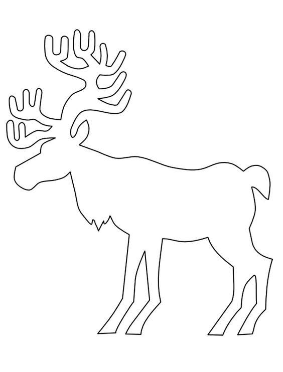 олени для украшения окон к новому году