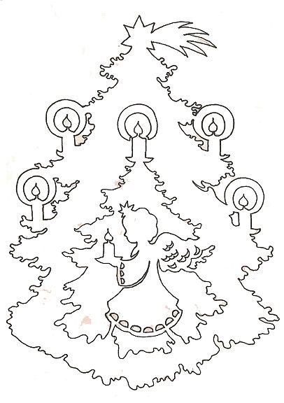 рождественская елка на окно