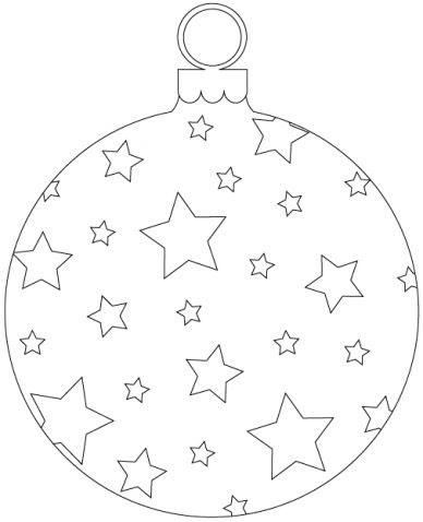 елочный шар - трафарет для вырезания