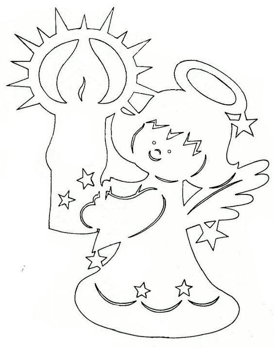 ангел для вырезания
