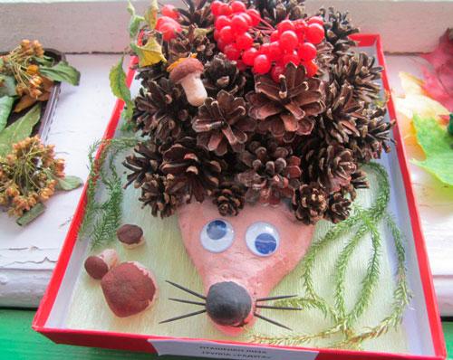 ежики - детские поделки на покровскую ярмарку в детский сад