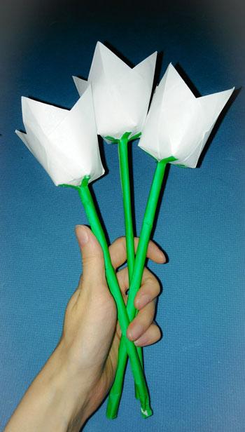 букет цветов из бумаги: мастер-класс