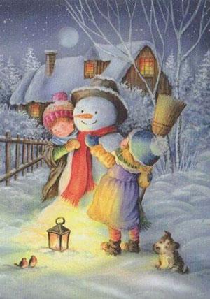Стихи про снеговика для детского сада