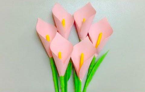 праздничный букет цветов из бумаги: мастер класс
