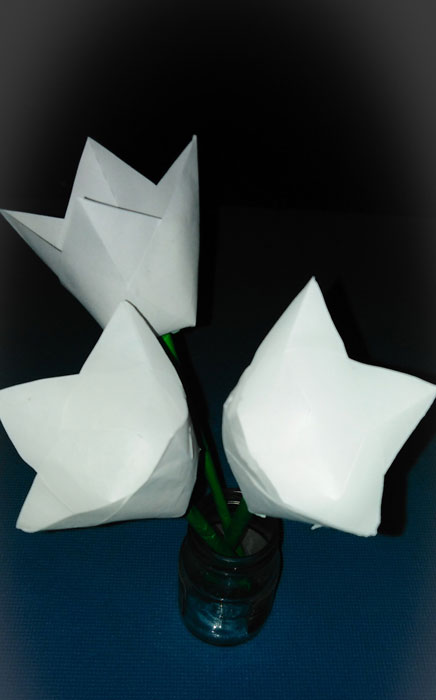 букет цветов из бумаги подробный мастер класс с фото