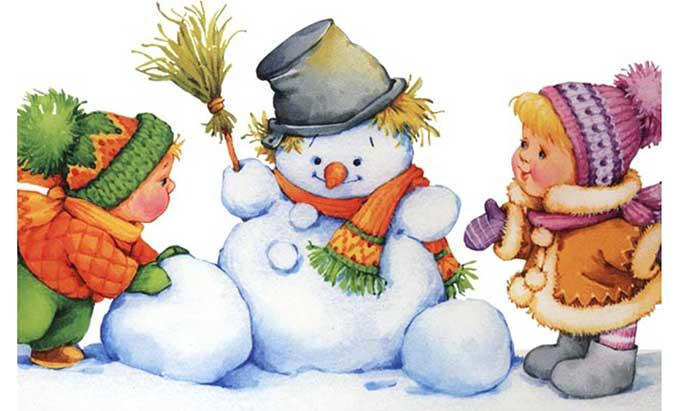 детские загадки про снеговика