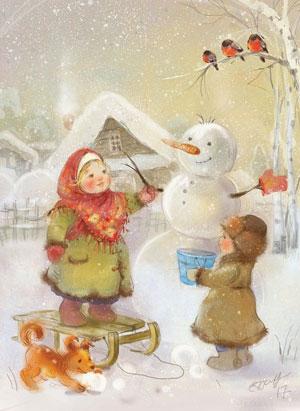 Стихи про снеговика для школьников