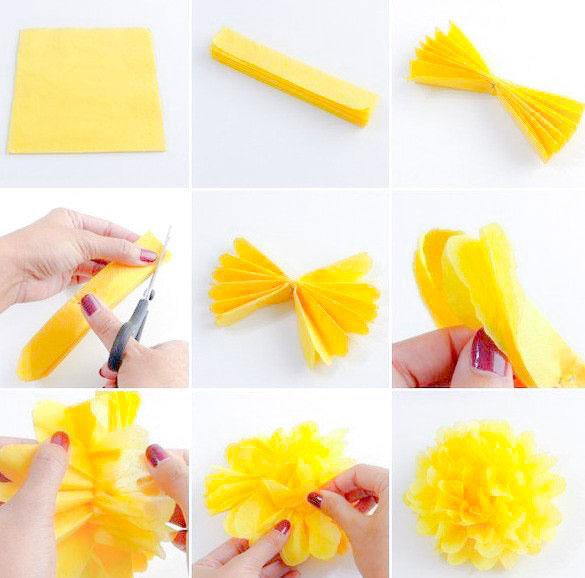 подробный мастер класс по изготовлению цветов из бумаги