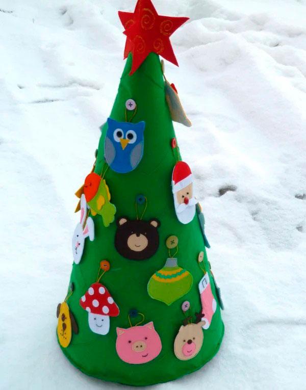 новогодняя елка: мастер-класс с фото