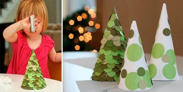 подробный мастер класс по изготовлению елки для детей