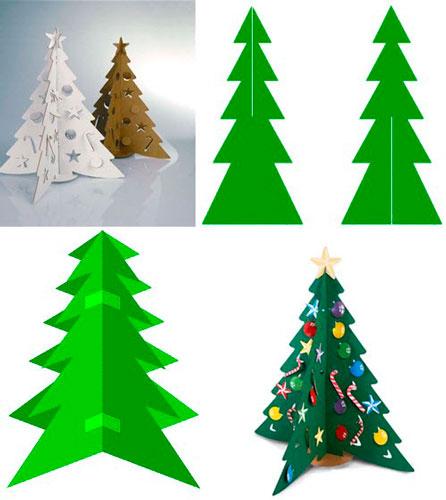 бумажная елка для детей своими руками