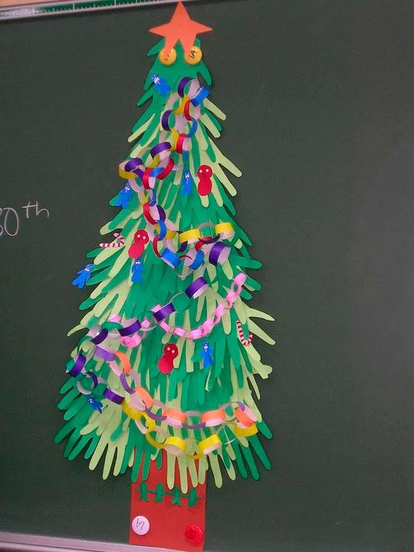 новогодняя елка своими руками для детей