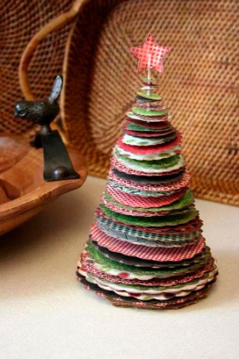 елка из бумаги для малышей