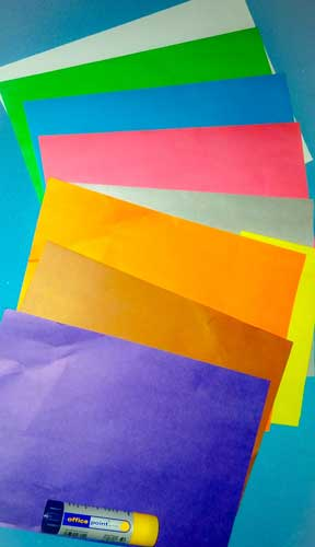 обрывная аппликация из бумаги для детей
