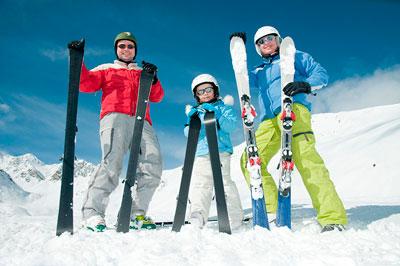 Загадка про лыжи для детей в детском саду
