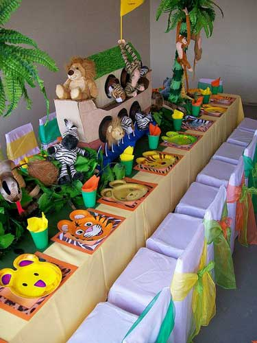детский день рождения в домашних условиях: красивый стол 4