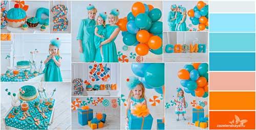 тематический День Рождения ребенка дома в едином стиле