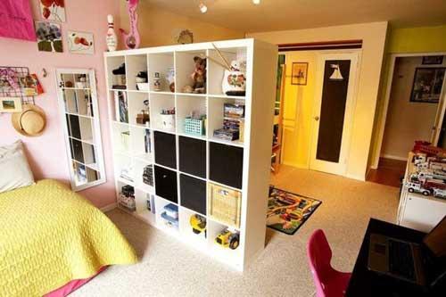 Планировка и зонирование детской комнаты для двоих детей 3