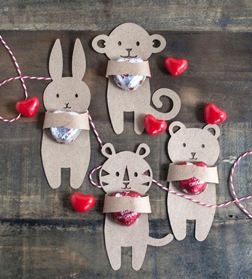 валентинки из бумаги для детей в детский сад
