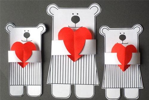 валентинки из бумаги
