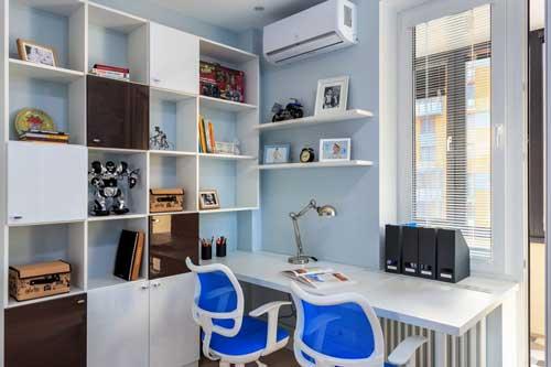 рабочее место в комнате для двоих детей 3