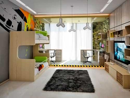 Планировка детской комнаты для двоих детей: лучшие идеи 6