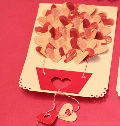 очень красивая валентинка воздушный шар