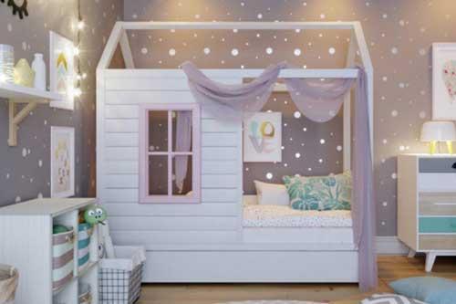 домик в детской для двоих детей