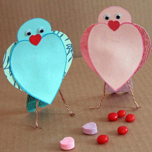 детские валентинки из бумаги для малышей