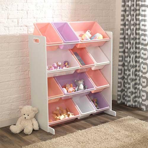 Планировка детской комнаты для двоих детей: хранение игрушек 4