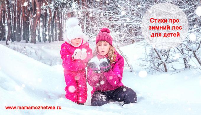 Стихи про зимний лес для детей