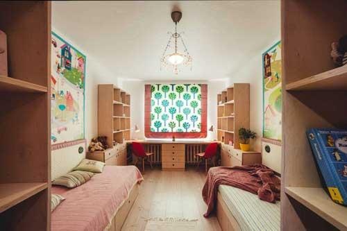 Планировка детской комнаты для двоих детей: лучшие идеи 8