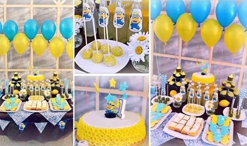 детский день рождения в домашних условиях: красивый стол