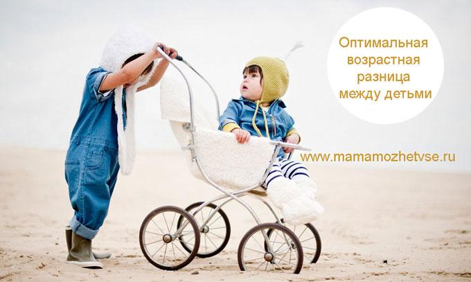 Оптимальная возрастная разница между детьми 1