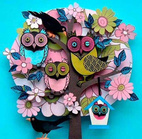 поделка дерево из цветной бумаги для детей 9